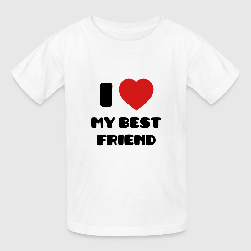 I Love my Best Friend Kids' Shirts - Kids' T-Shirt