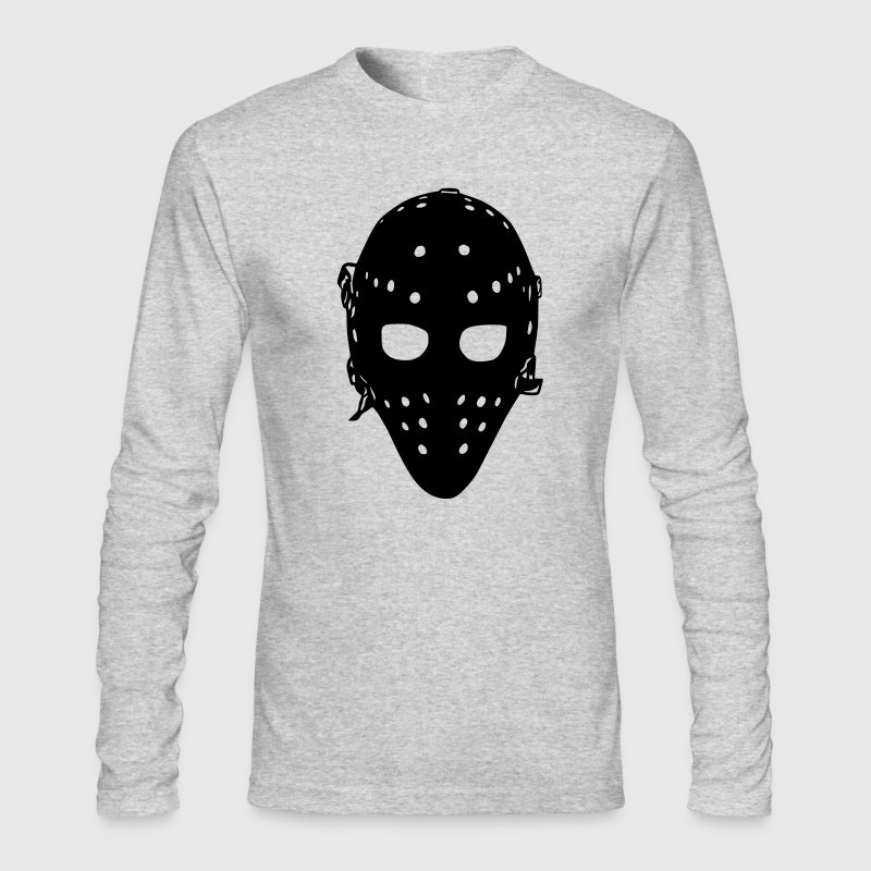 Vintage Hockey Goalie Mask Long Sleeve Shirts - Men's Long Sleeve T-Shirt by Next Level