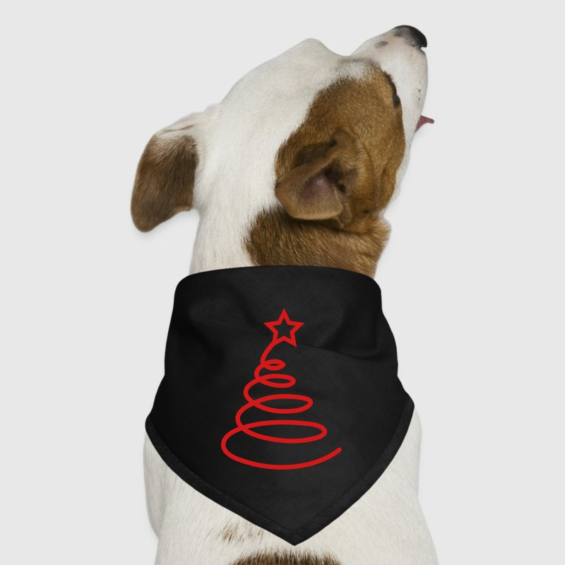 Simple ribbon Christmas tree FUNKY Dog T-Shirts - Dog Bandana