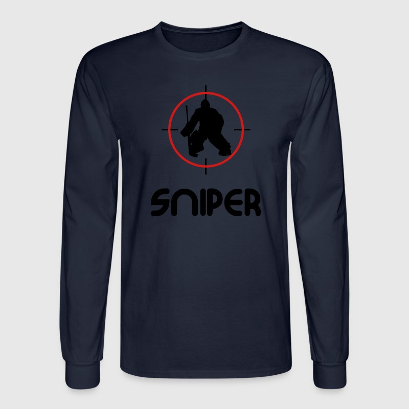 Sniper (hockey) Long Sleeve Shirts - Men's Long Sleeve T-Shirt