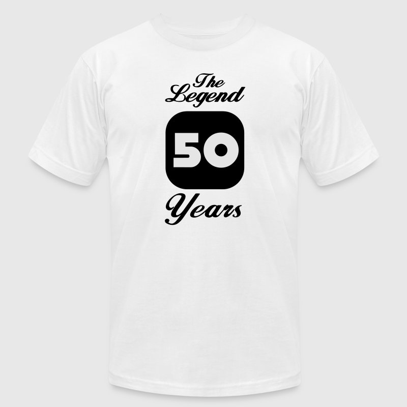 50 fiftieth birthday: The Legend 50 Years T-Shirts - Men's T-Shirt by American Apparel