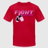Fight Breast Cancer Pink Boxing Gloves 2 T-Shirts - Men's T-Shirt by American Apparel