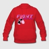 Fight Breast Cancer Pink Boxing Gloves 2 Hoodies - Women's Hoodie