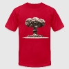 Nuclear Explosion & Mushroom Cloud - Men's T-Shirt by American Apparel