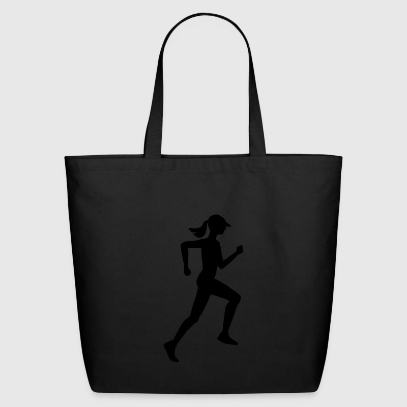 Woman Runner - Eco-Friendly Cotton Tote