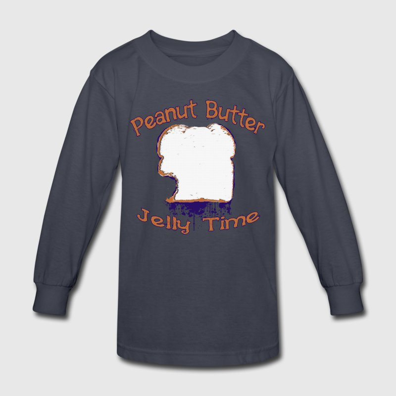 Peanut Butter Jelly Time Kids' Shirts - Kids' Long Sleeve T-Shirt