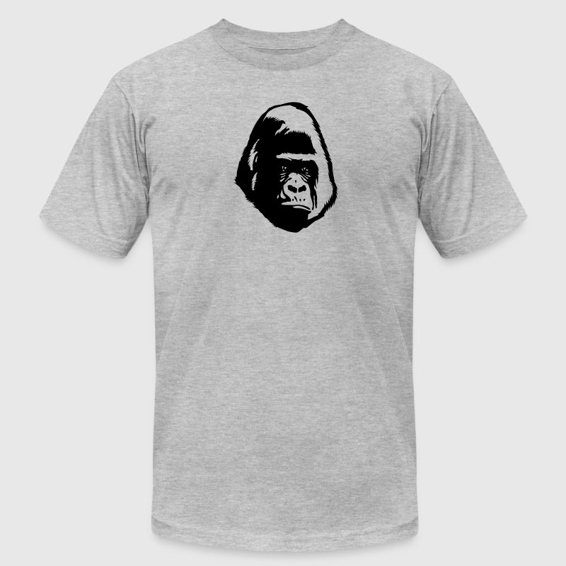 gorilla head shadow face T-Shirts - Men's T-Shirt by American Apparel
