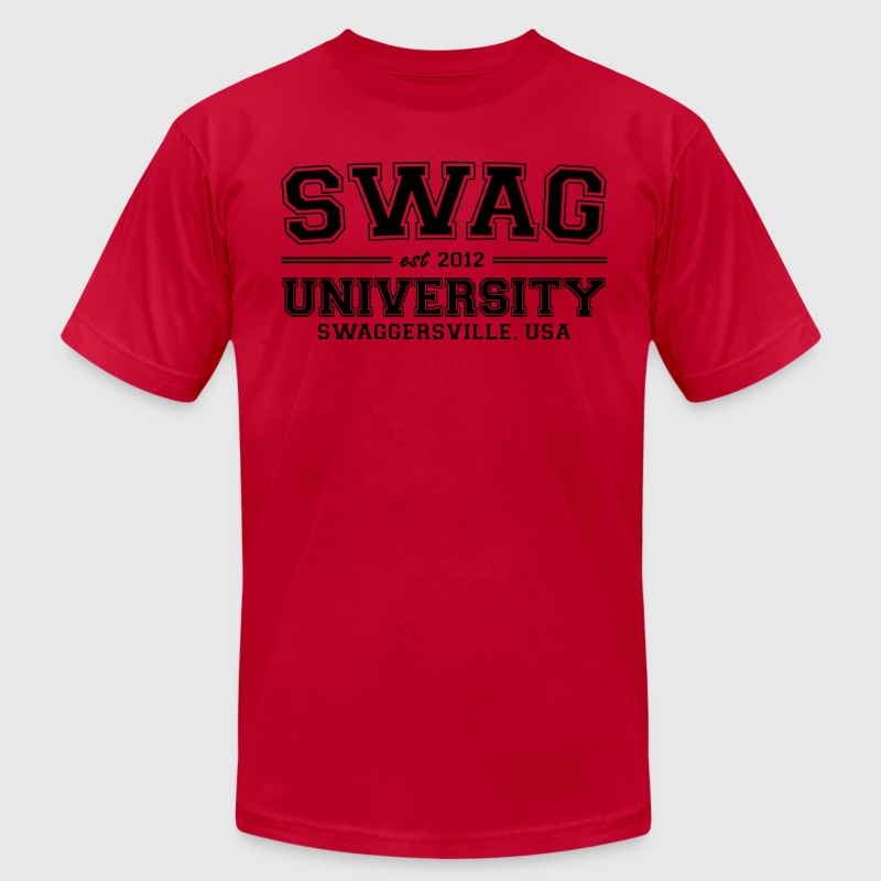 Swag University T-Shirts - Men's T-Shirt by American Apparel