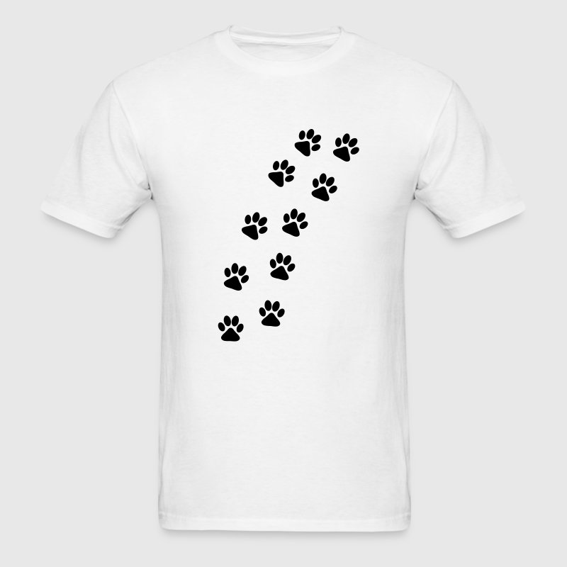 Dog Paw Track T-Shirts - Men's T-Shirt