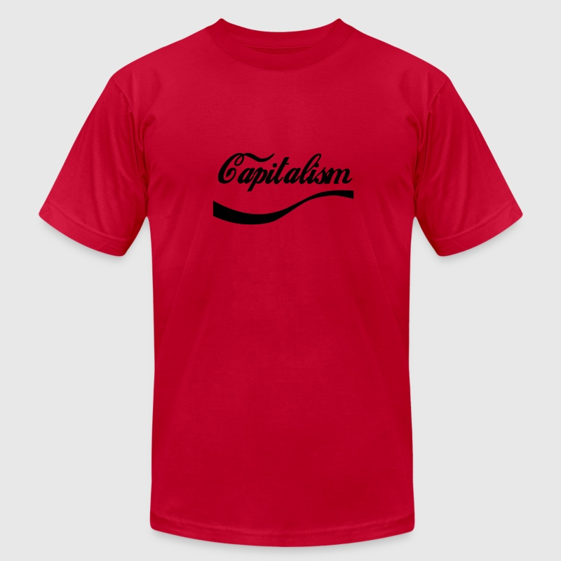 capitalism T-Shirts - Men's T-Shirt by American Apparel