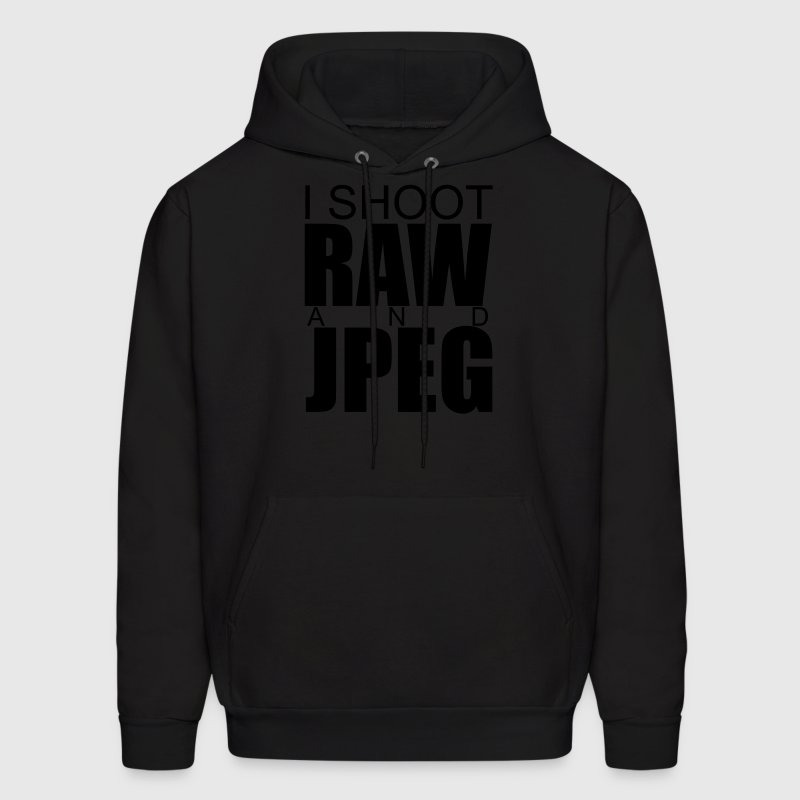 I SHOOT RAW AND JPET-HOODED SWEATER - Men's Hoodie