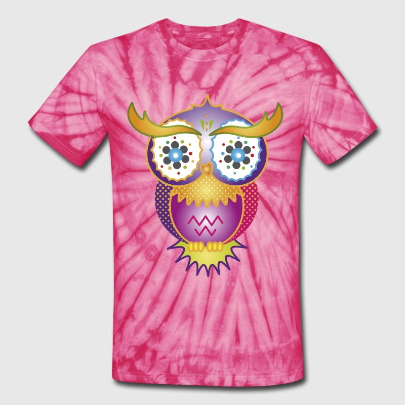 A psychedelic owl T-Shirts - Unisex Tie Dye T-Shirt