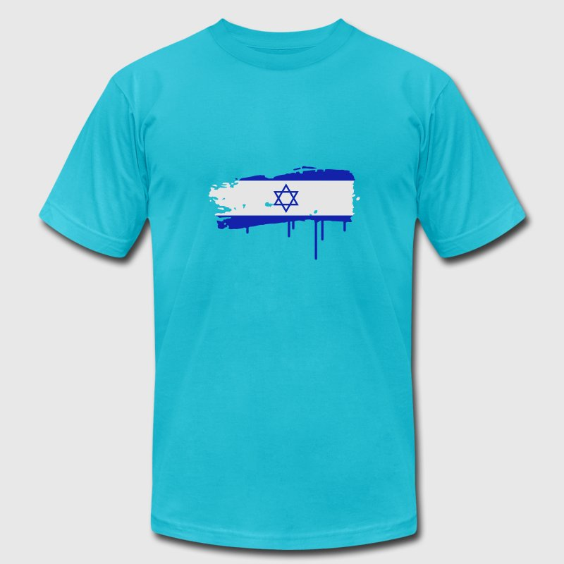 Israeli flag painted with a brush stroke T-Shirts - Men's Fine Jersey T-Shirt