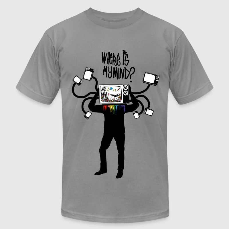 Where is my mind? T-Shirts - Men's T-Shirt by American Apparel