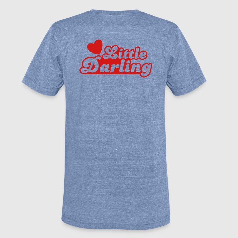 little darling with cute little love heart T-Shirts - Unisex Tri-Blend T-Shirt by American Apparel
