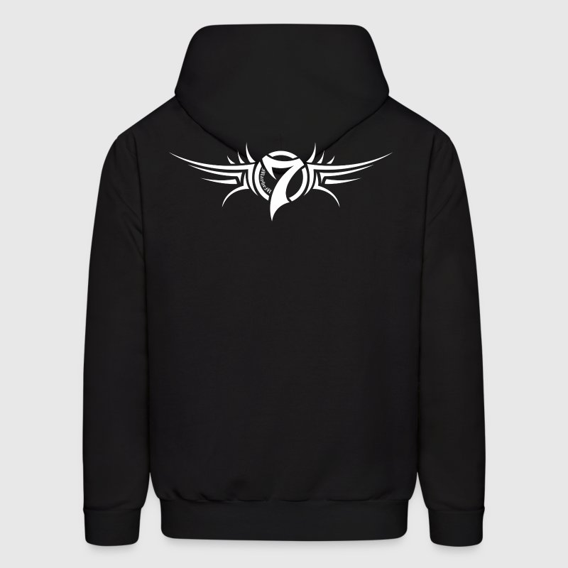 MayheM-7 Tattoo Logo White - Men's Hoodie