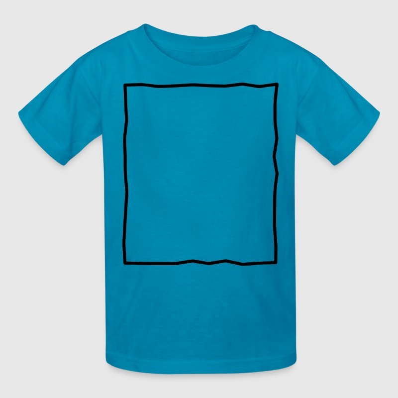 simple rough rectangle background element Kids' Shirts - Kids' T-Shirt