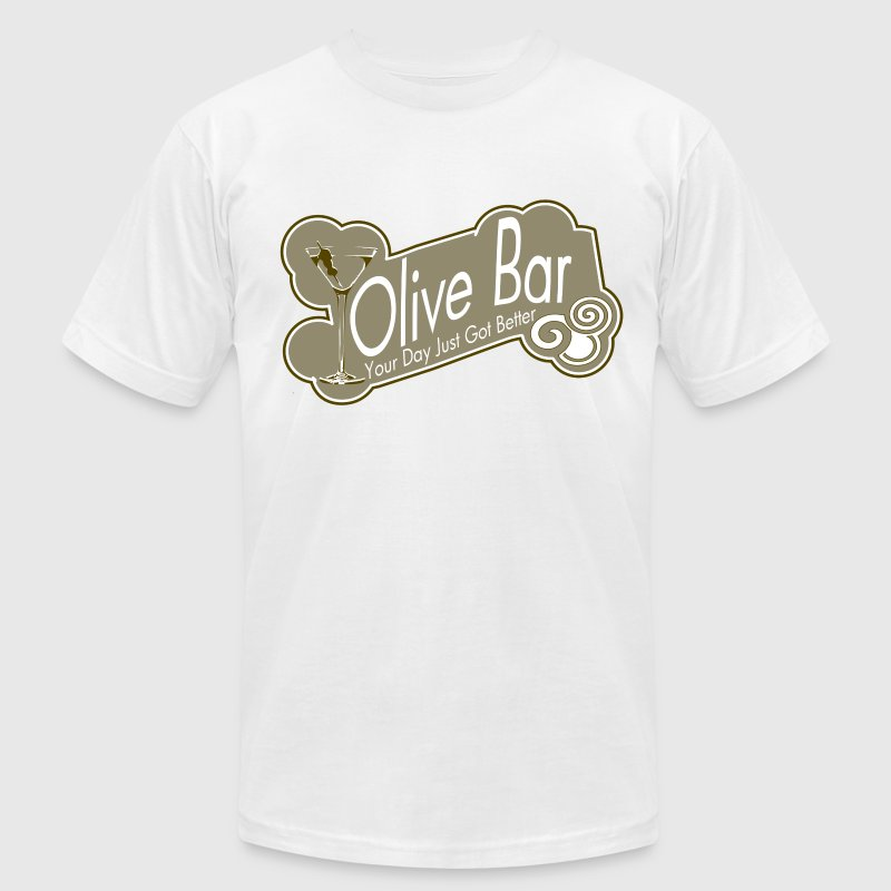 Olive Bar - Men's T-Shirt by American Apparel