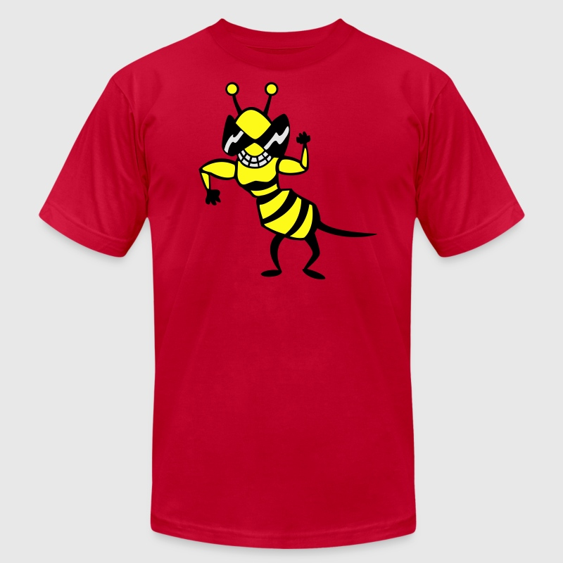 cool bee - wasp T-Shirts - Men's T-Shirt by American Apparel