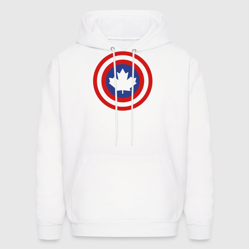 Captain Canada Shield 2 Colour Hoodies - Men's Hoodie