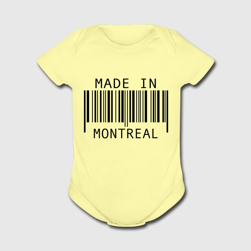 Made in Montreal Baby Bodysuits - Short Sleeve Baby Bodysuit