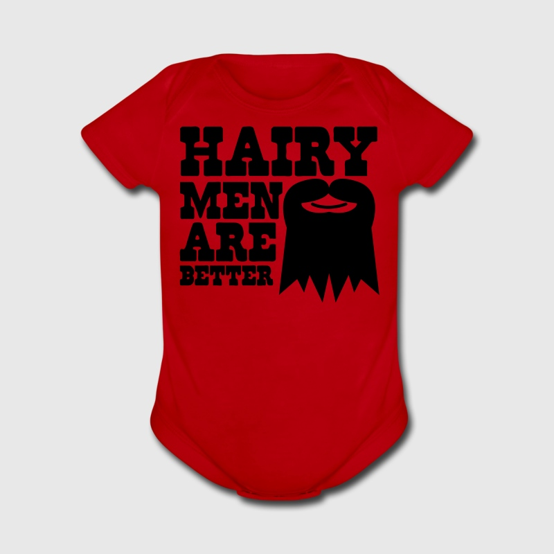 HAIRY MEN ARE BETTER Baby Bodysuits - Short Sleeve Baby Bodysuit
