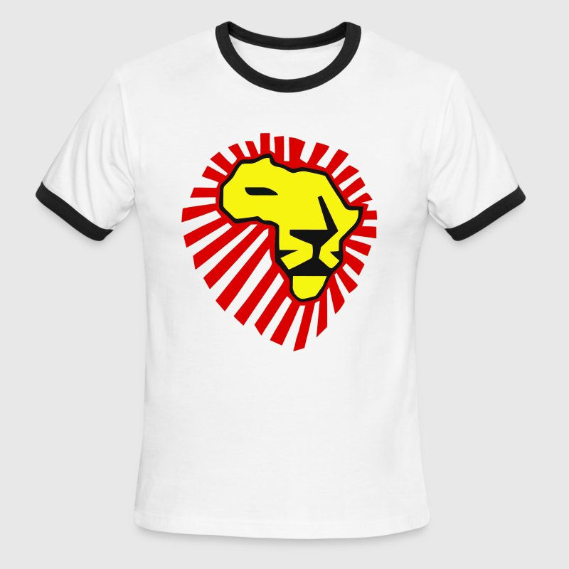 Waka Waka Yellow Lion / Red Mane T-Shirt T-Shirts - Men's Ringer T-Shirt