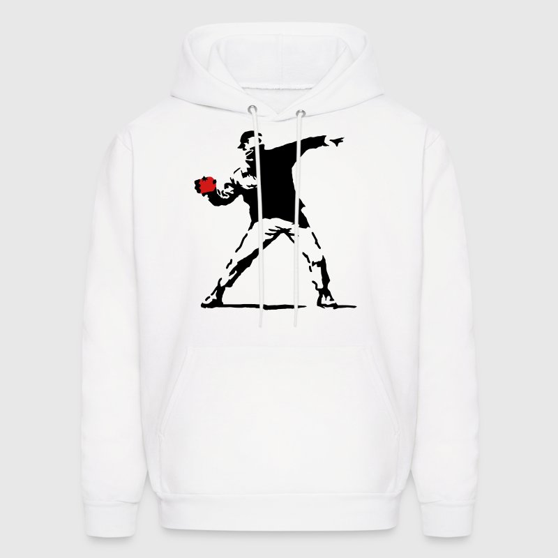 Tomatsky based on Banksy's Flower Chucker Tomato Hoodies - Men's Hoodie