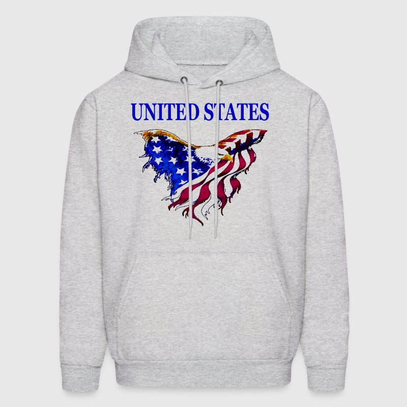 United States Eagle Flag Hooded Sweat Shirt with design on front - Men's Hoodie