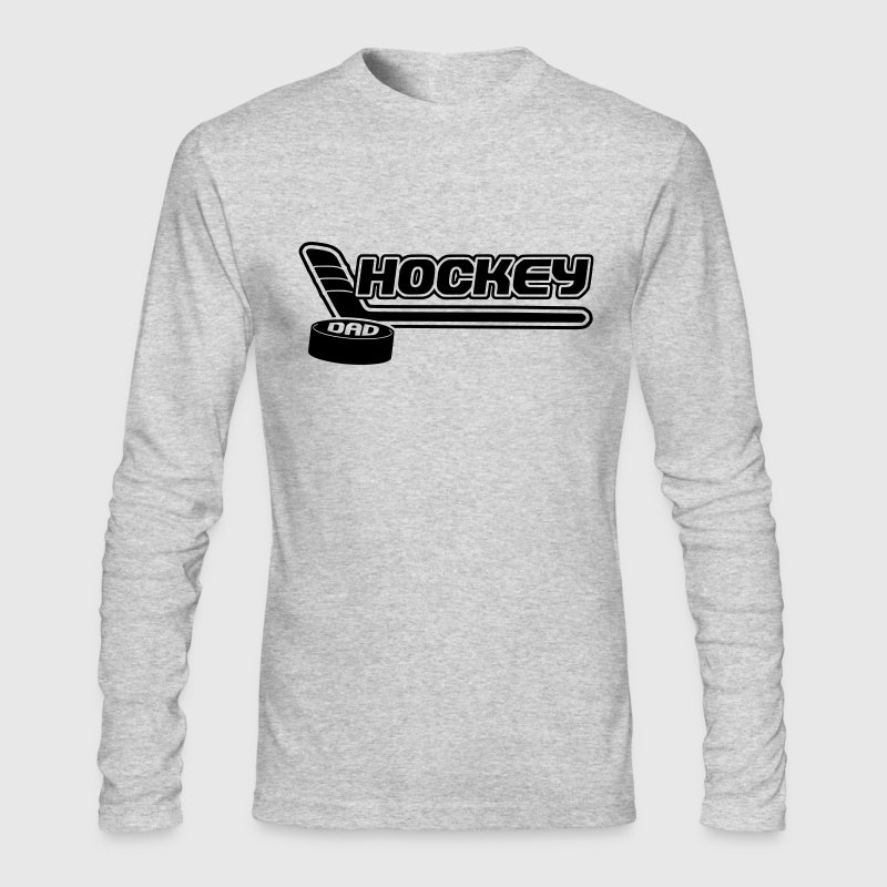 Hockey Dad (stick and puck design) Long Sleeve Shirts - Men's Long Sleeve T-Shirt by Next Level