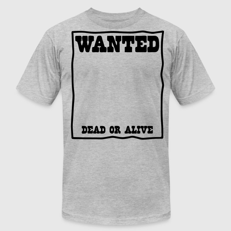 reward wanted poster T-Shirts - Men's T-Shirt by American Apparel