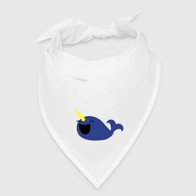 very happy narwhale whale with a horn Bags  - Bandana