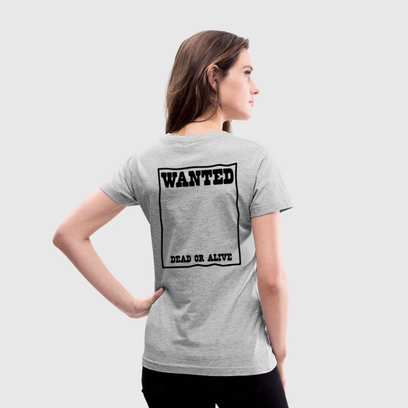 reward wanted poster Women's T-Shirts - Women's V-Neck T-Shirt