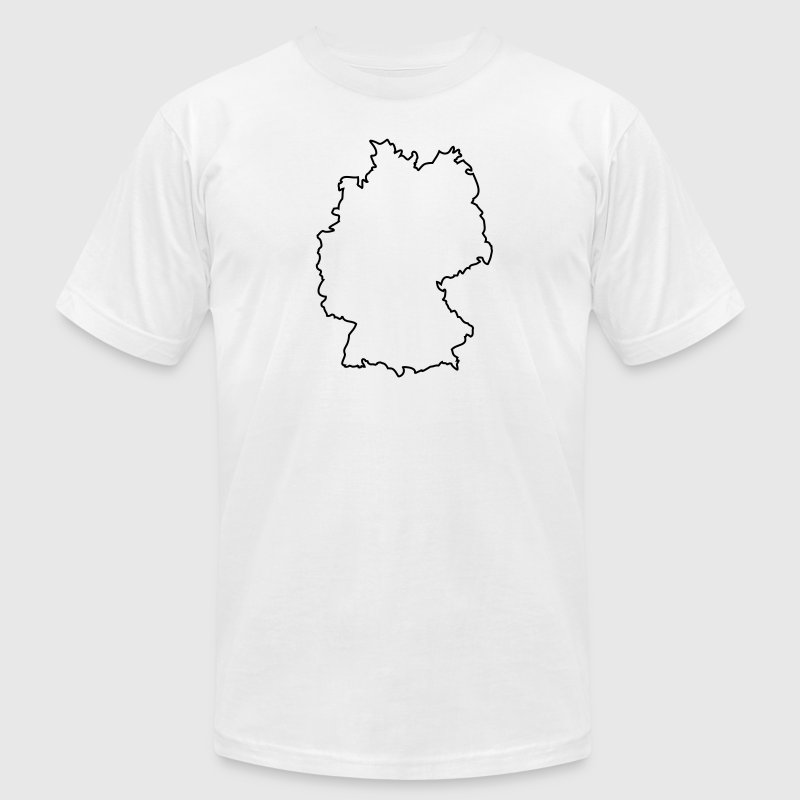germany outline T-Shirts - Men's T-Shirt by American Apparel
