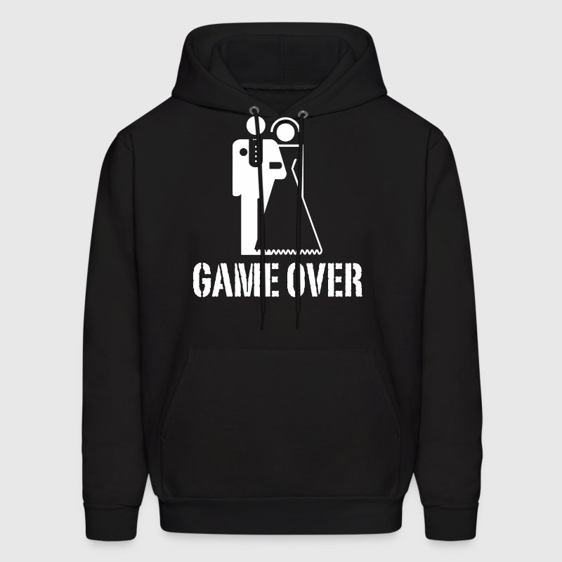 Game Over Bride Groom Wedding Hoodies - Men's Hoodie