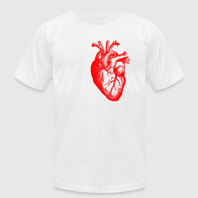 I love / I heart heart anatomy T-Shirts - Men's T-Shirt by American Apparel