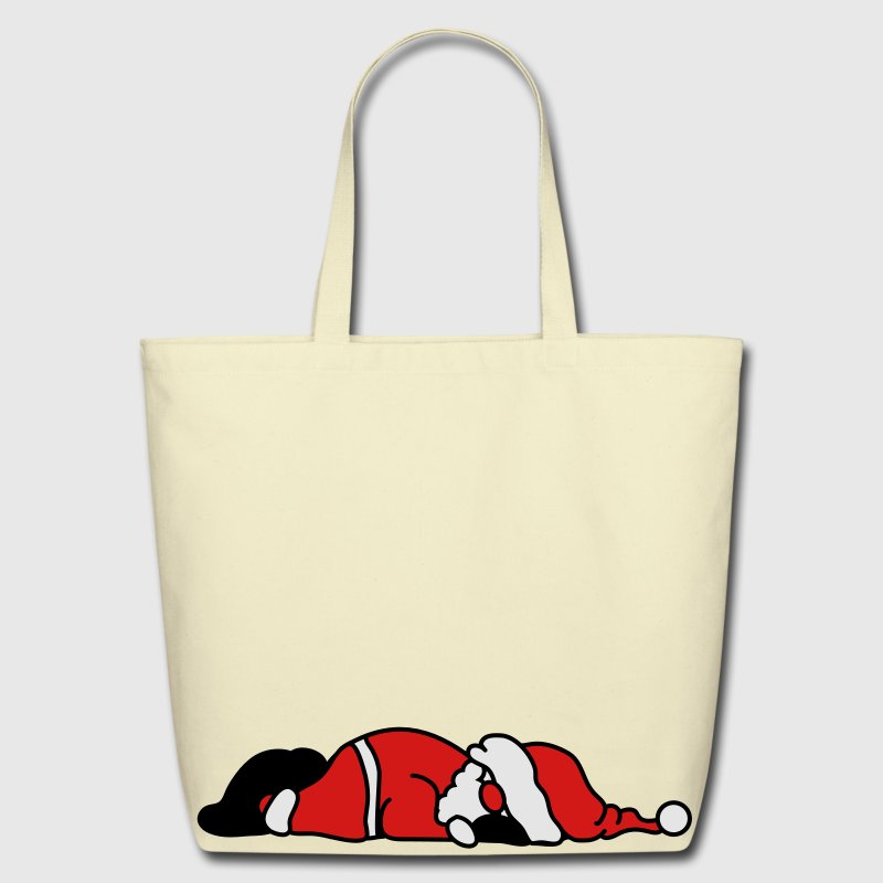 Santa Claus is sleeping Bags  - Eco-Friendly Cotton Tote