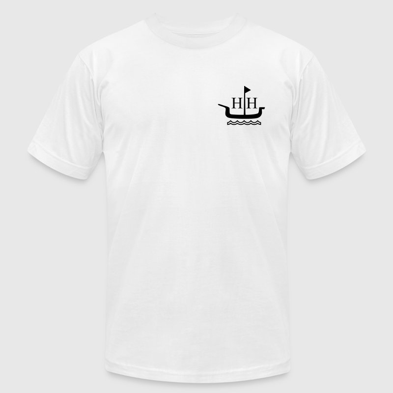 Huntington Harbour Boat T-Shirts - Men's T-Shirt by American Apparel