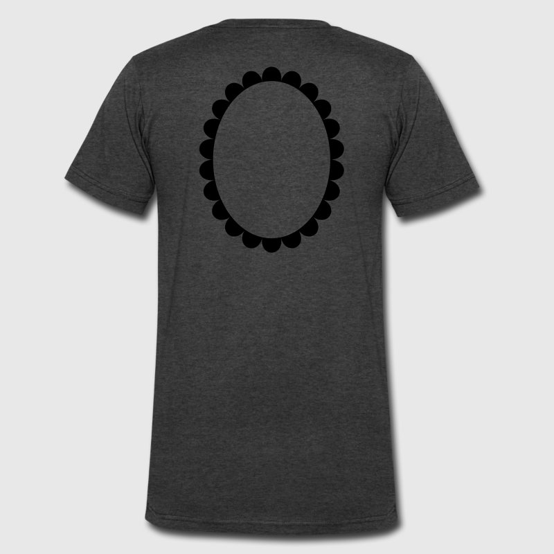 cameo circle oval shape T-Shirts - Men's V-Neck T-Shirt by Canvas