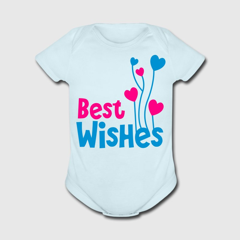 best wishes birthday image with balloons Baby Bodysuits - Short Sleeve Baby Bodysuit