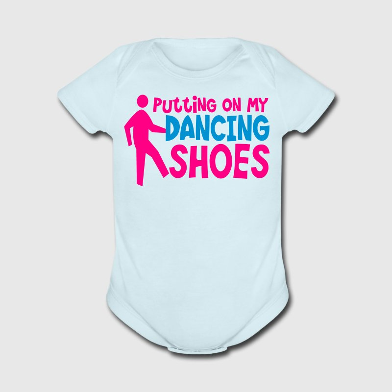 PUTTING ON MY DANCING SHOES man dance humor Baby Bodysuits - Short Sleeve Baby Bodysuit