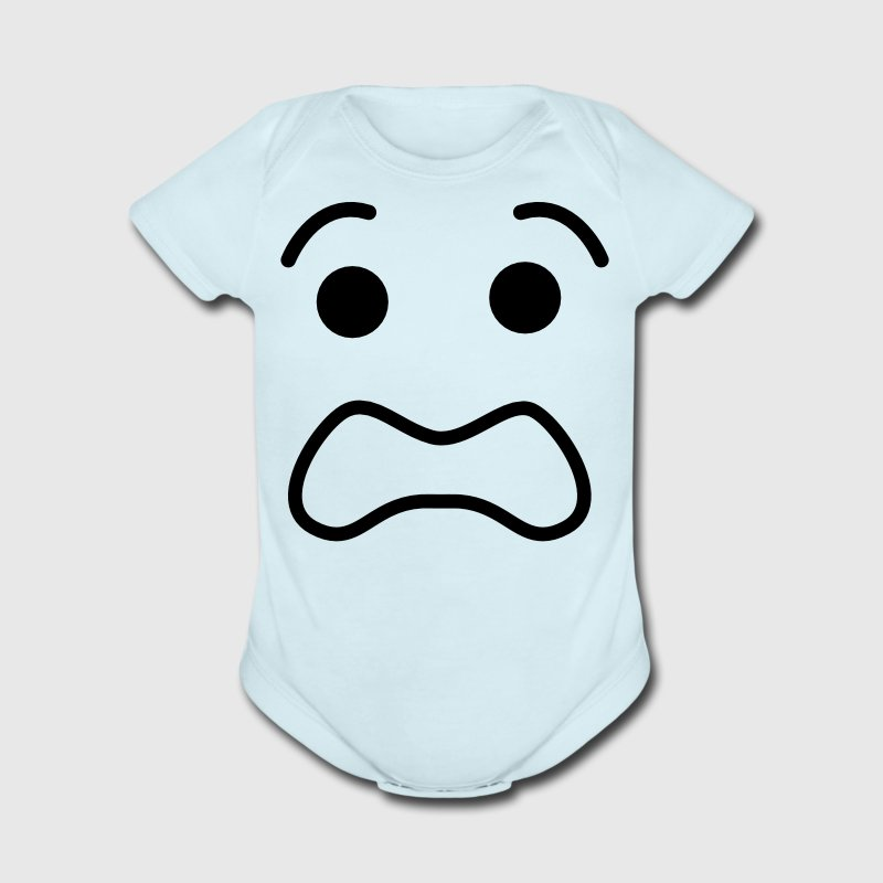 this is my scared freak out face Baby Bodysuits - Short Sleeve Baby Bodysuit