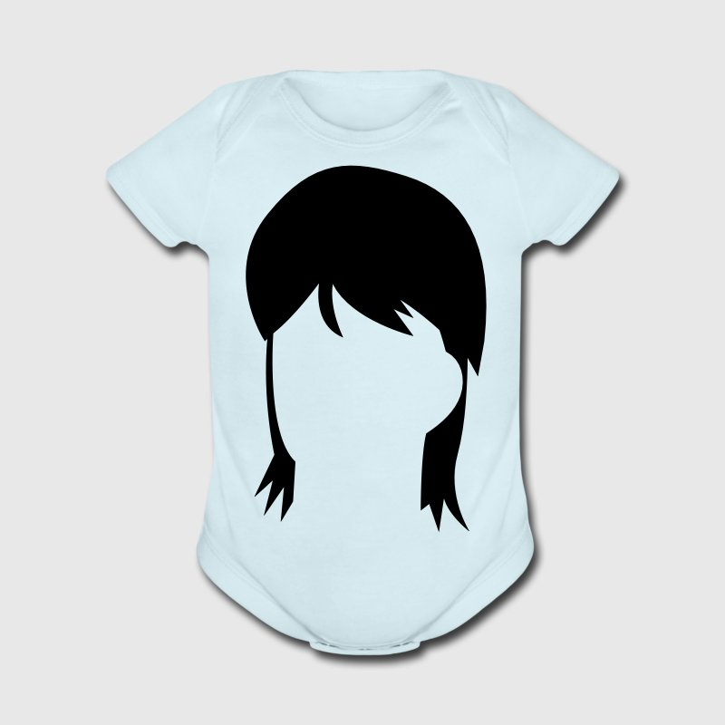 MULLET hair style from the eighties Baby Bodysuits - Short Sleeve Baby Bodysuit