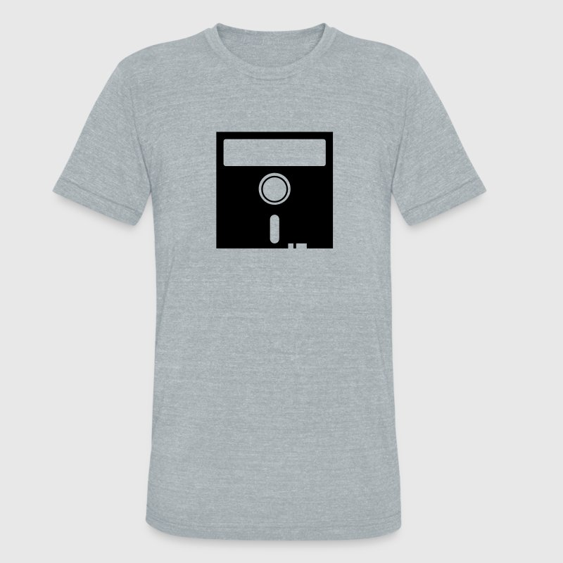 old skool computer nerd floppy disk T-Shirts - Unisex Tri-Blend T-Shirt by American Apparel