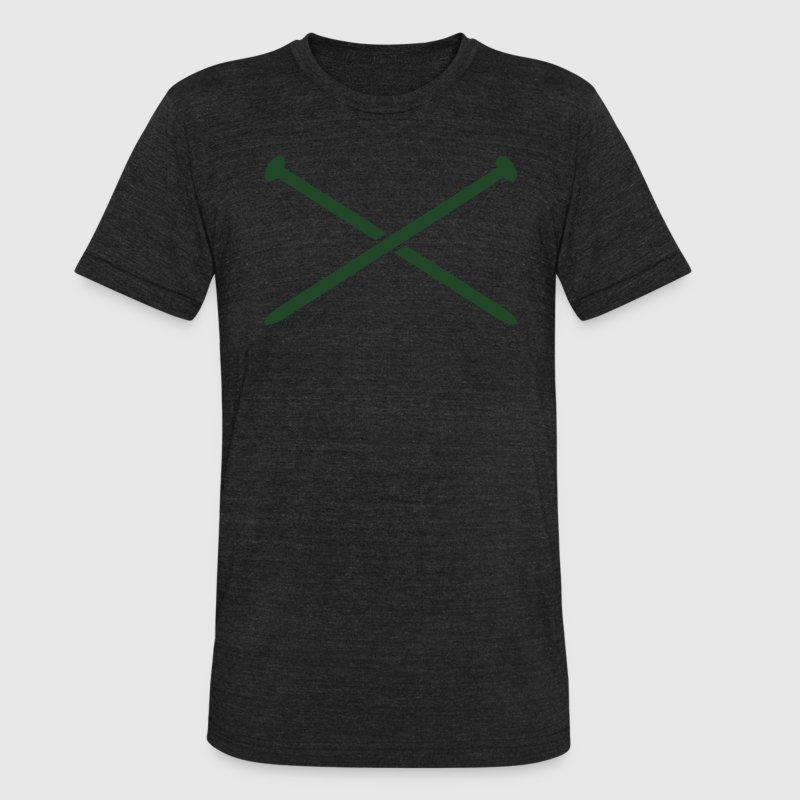 crossed knitting needles crafty knit T-Shirts - Unisex Tri-Blend T-Shirt by American Apparel
