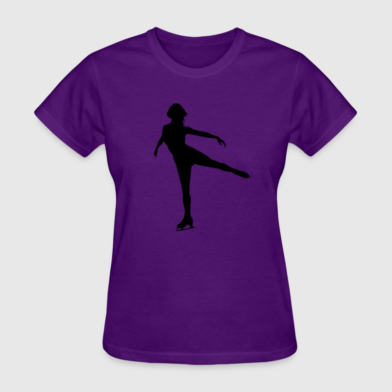 Ice Skating female Women's T-Shirts - Women's T-Shirt