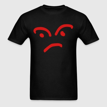 Confused/mad face - Men's T-Shirt