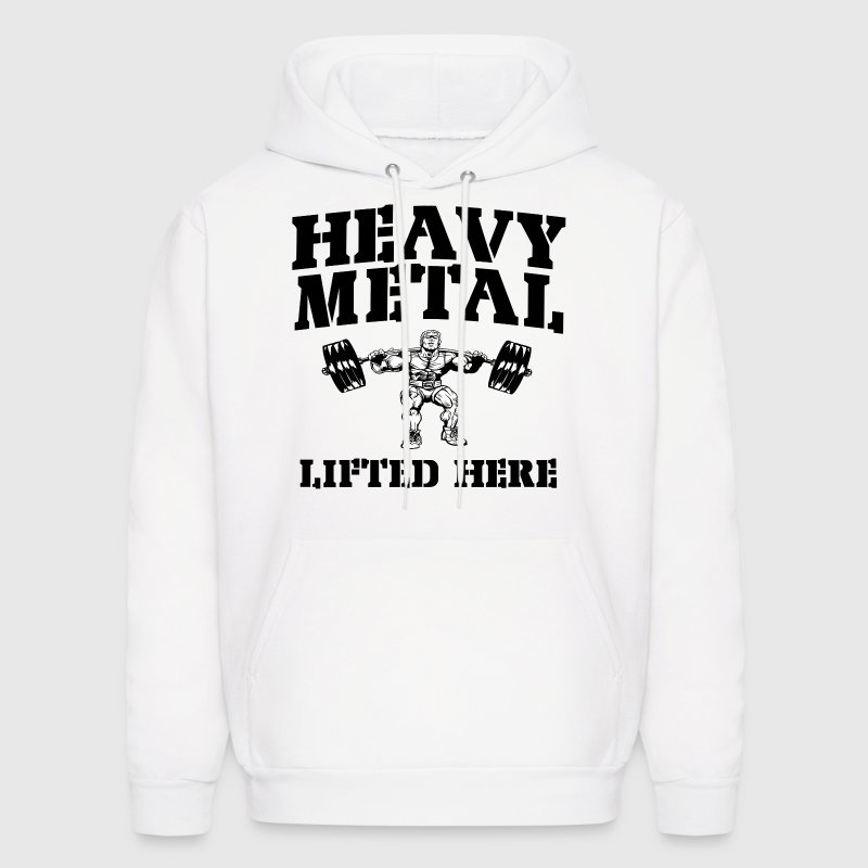 Heavy Metal Lifted Here Weightlifting Hoodies - Men's Hoodie