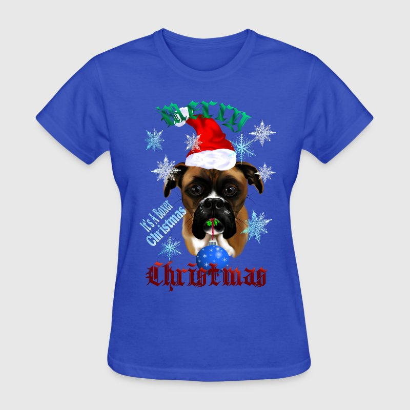 Wonderful Christmas Boxer Dog - Women's T-Shirt