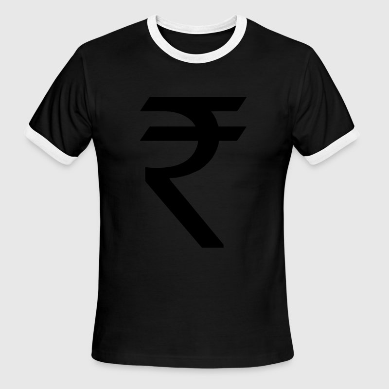 Indian Rupee Symbol - Men's Ringer T-Shirt